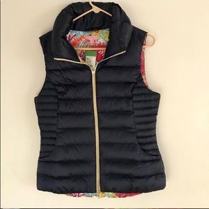 NWT Allie Packable Quilted Vest in Navy, Size L